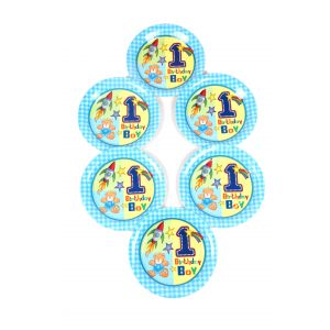 Fun At 1 Boy 9 Inches Disposable Plate (6 Pcs/Pack)
