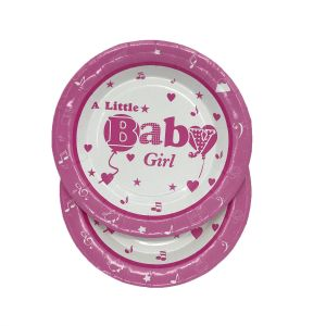 Little Baby Girl Theme 9 Inches Disposable Plate (6 Pcs/Pack)