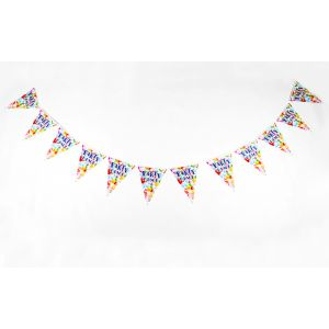 Party Time Theme Flag Banner (12 Flags/Pack)