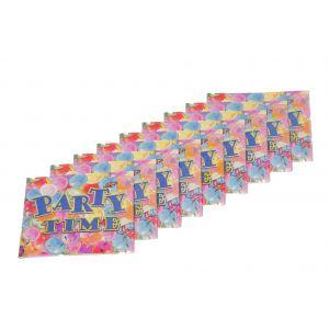 Party Time Theme Napkins (9 Pcs/Pack)