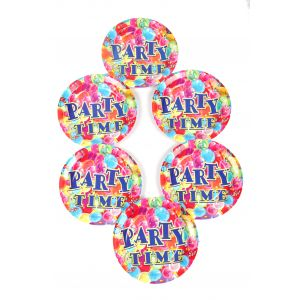 Party Time 7 Inches Disposable Plate (6 Pcs /Pack)