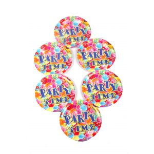 Party Time Theme 9 Inches Disposable Plate (6 Pcs/Pack)