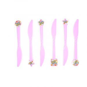 Party Time Theme Knife (6 Pcs/Pack)