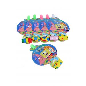 Spongy Bob Theme Blowouts (6 Pcs/Pack)