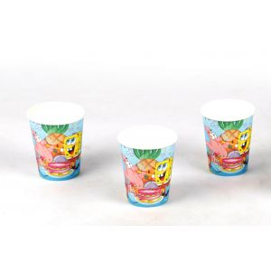 Spongy Bob Theme 9Oz Paper Cup (6 Pcs/Pack)