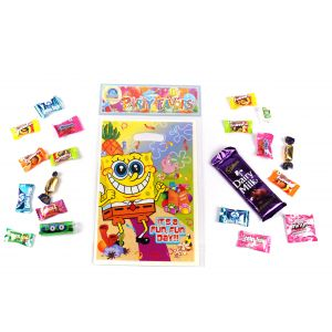Spongy Bob Theme Loot Bag (6 Pcs/Pack), Size 24*16CM