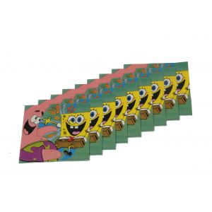 Spongy Bob Theme Napkins (9 Pcs/Pack)