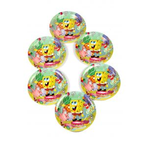 Spongy Bob 7 Inches Disposable Plate (6 Pcs /Pack)