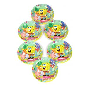 Spongy Bob 9 Inches Disposable Plate (6 Pcs/Pack)