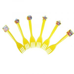 Winnie The Pooh Theme Forks (Pack Of 6 Pcs)