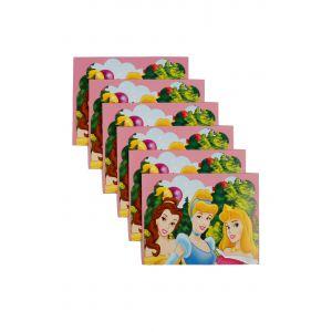 Three Princess Theme Invitation (6 Pcs/Pack)