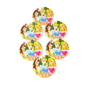 Three Princess  7 Inches Disposable Paper Plates
