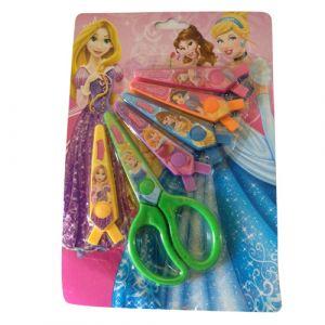 Princess Fancy Scissors Set (Set Of 6 Scissor Blades In 6 Styles)