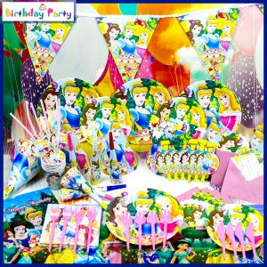 Funcart Three Princess Theme COMBO (Pack OF 90PCS)