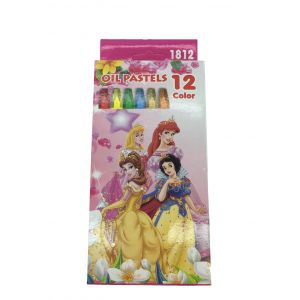 Three Princess Oil Pastel Drawing Colors