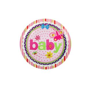 Butterfly Baby  9 Inches Disposable Paper Plate (6 Pcs/Pack)