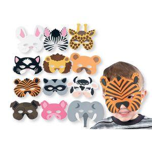 Animal Foam Eye Masks (Pack Of 3) Assorted Designs