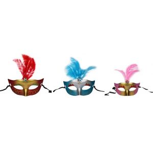 Eye Mask With Feathers ( 3Pcs/Pack)