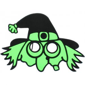 Spooky Halloween Eye Mask  - Witch (assorted color 1 Pc/Pack)