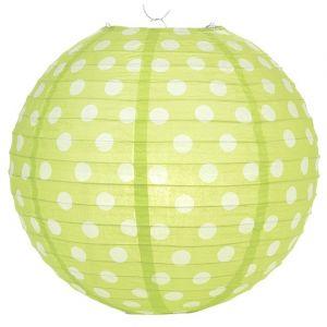 Polka Dot 12 Inches Paper Lantern-Lime Green