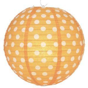 Polka Dot 12 Inches Paper Lantern-Orange