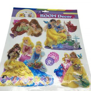 3D Print Room Decor Stickers - Three Princess