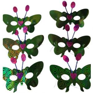 Green Paper Butterfly Eye Mask (Pack Of 6)