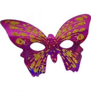 Funcart Pink & Gold Butterfly paper Eye Mask (pack of 6)