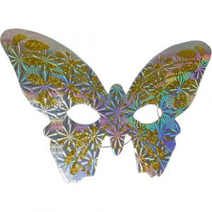 Funcart Silver & Gold Butterfly paper Eye Mask (pack of 6)