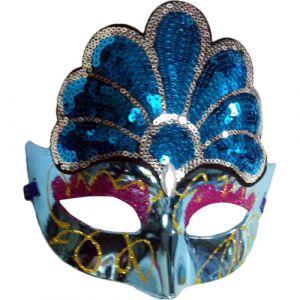 Funcart Fancy Eye Mask with ornate sequin design-Blue